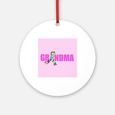 Autism Grandma Ornament (Round)