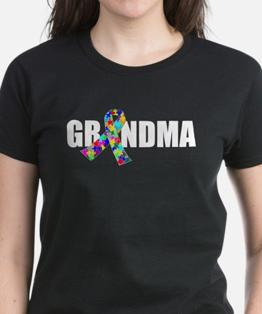 Autism Grandma Women's Dark T-Shirt