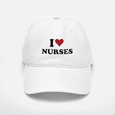 i heart nurses Baseball Baseball Cap