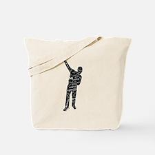 AZONTO black & white SCRIPT Tote Bag