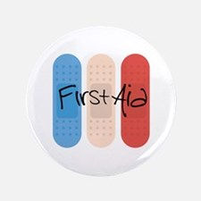 Ouchies Adhesive Bandages Button