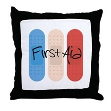 Ouchies Adhesive Bandages Throw Pillow