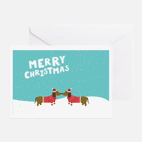 Cool Dachshund christmas Greeting Card
