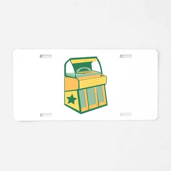 Jukebox Aluminum License Plate