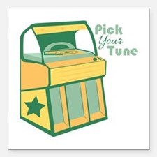 """Pick Your Tune Square Car Magnet 3"""" x 3"""""""