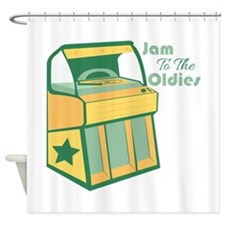 Jam To The Oldies Shower Curtain