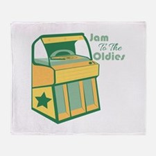 Jam To The Oldies Throw Blanket