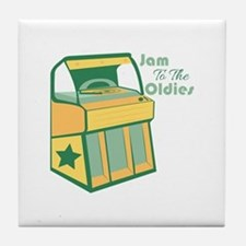 Jam To The Oldies Tile Coaster