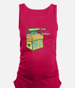 Jam To The Oldies Maternity Tank Top