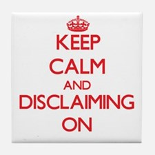 Disclaiming Tile Coaster
