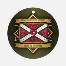 1st & 3rd Florida Infantry Ornament (Round)
