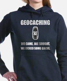 Geocaching Kicked Cache Women's Hooded Sweatshirt