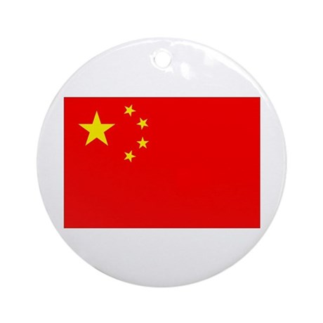 Chinese Flag Ornament (Round)