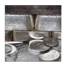 Silver Hoard Tile Coaster