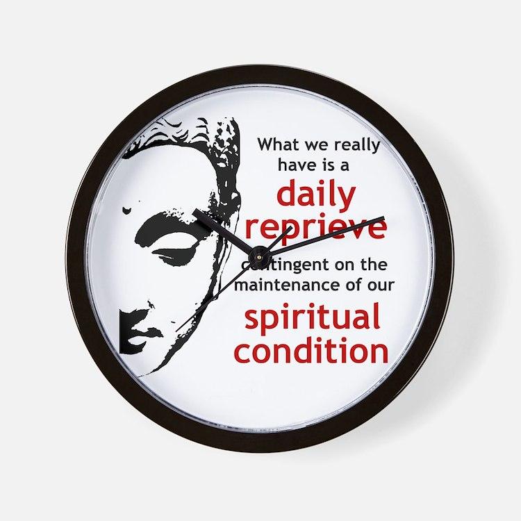 Spiritual Condition Wall Clock