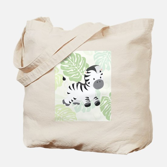 Friendly Zebra Tote Bag