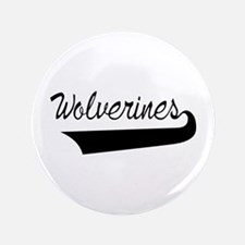 Wolverines Lettering Button
