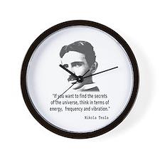 Quote By Nikola Tesla Wall Clock