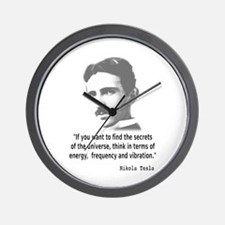 Quote By Nikola Tesla Wall Clock