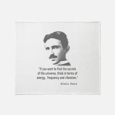 Quote By Nikola Tesla Throw Blanket