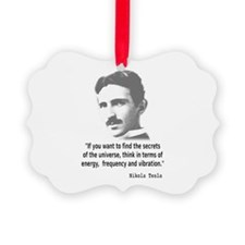 Quote By Nikola Tesla Ornament