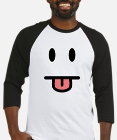 Tongue Sticking Out Face Baseball Jersey