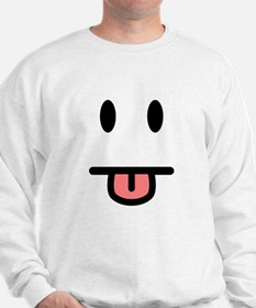 Tongue Sticking Out Face Sweatshirt