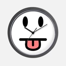 Tongue Sticking Out Face Wall Clock