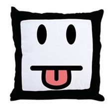 Tongue Sticking Out Face Throw Pillow
