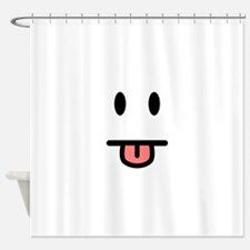 Tongue Sticking Out Face Shower Curtain