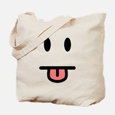 Tongue Sticking Out Face Tote Bag