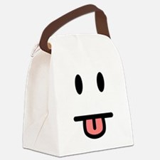 Tongue Sticking Out Face Canvas Lunch Bag