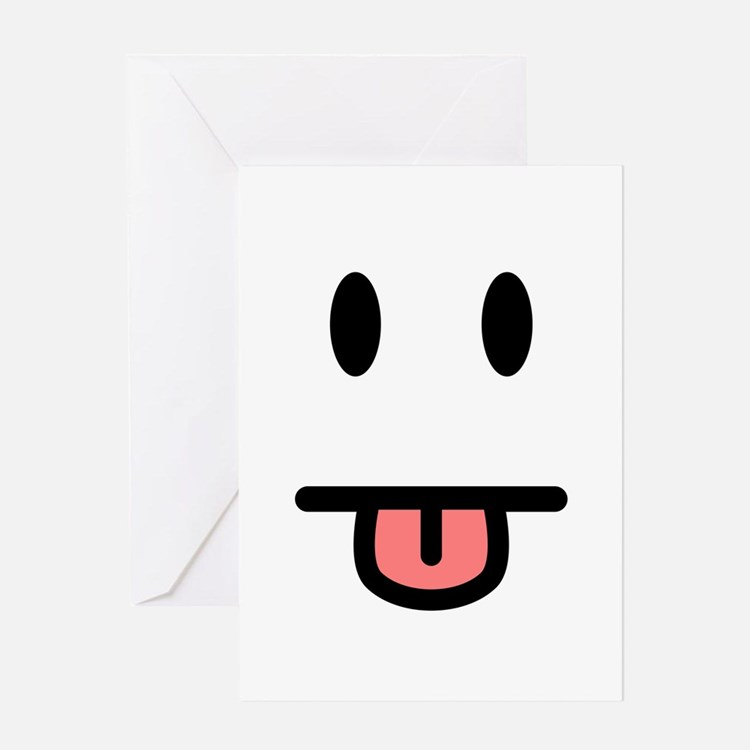Tongue Sticking Out Face Greeting Card