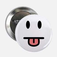"""Tongue Sticking Out Face 2.25"""" Button (10 pack)"""