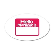 Name Tag Wall Decal