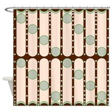 Dripping Dots green Shower Curtain