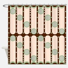 Dripping Dots green Shower Curtain