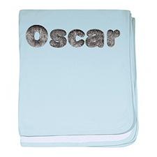 Oscar Wolf baby blanket