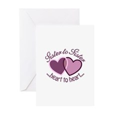 SisterTo Sister Greeting Cards