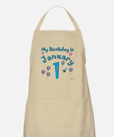 January 1st Birthday BBQ Apron