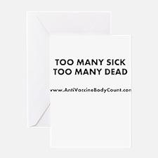 Too Many Sick Greeting Card