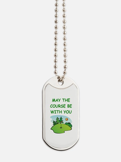 golfing Dog Tags