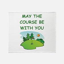 golfing Throw Blanket