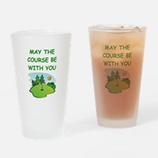 golfing Drinking Glass