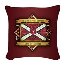 1st & 3rd Florida Infantry Woven Throw Pillow