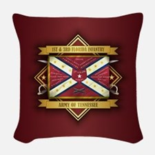 1st & 3rd Florida Infantry Woven Throw Pillow
