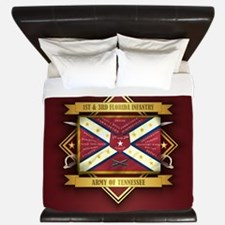 1st & 3rd Florida Infantry King Duvet