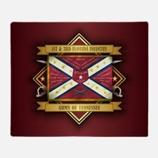 1st & 3rd Florida Infantry Throw Blanket