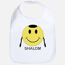 Shalom Happy Face Bib