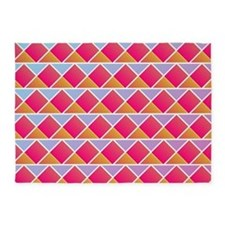 Fuchsia triangles 5'x7'Area Rug